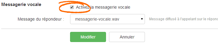 Call Tracking - Ajouter une messagerie vocale